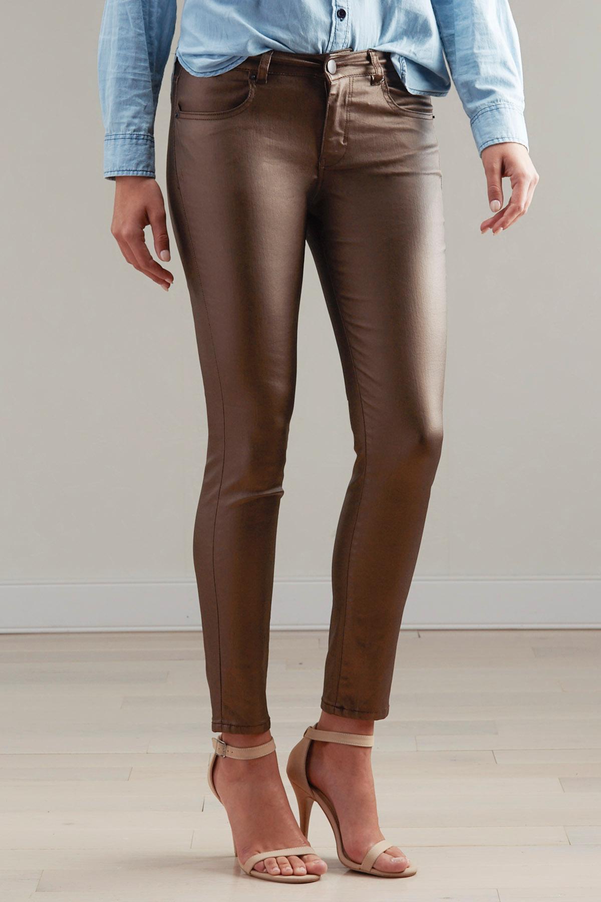 Coated Skinny Pants