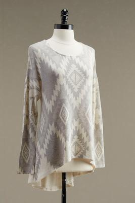 geo-tribal high-low tunic