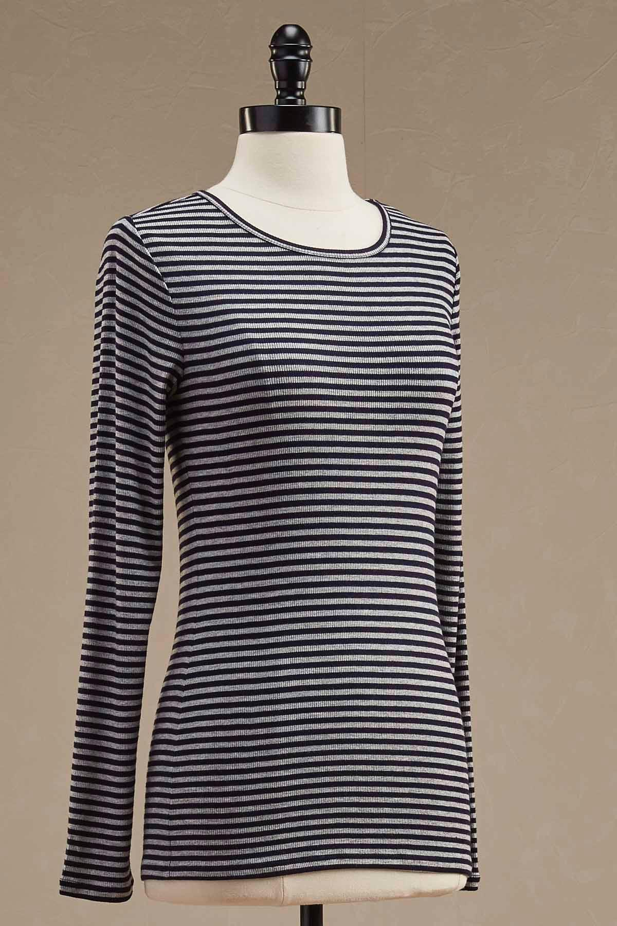 Ribbed Knit Striped Top
