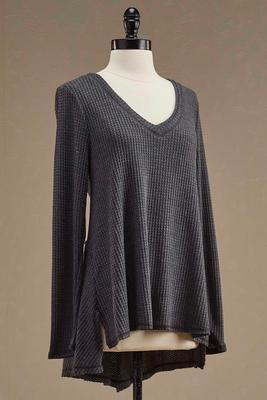 waffle knit swing top