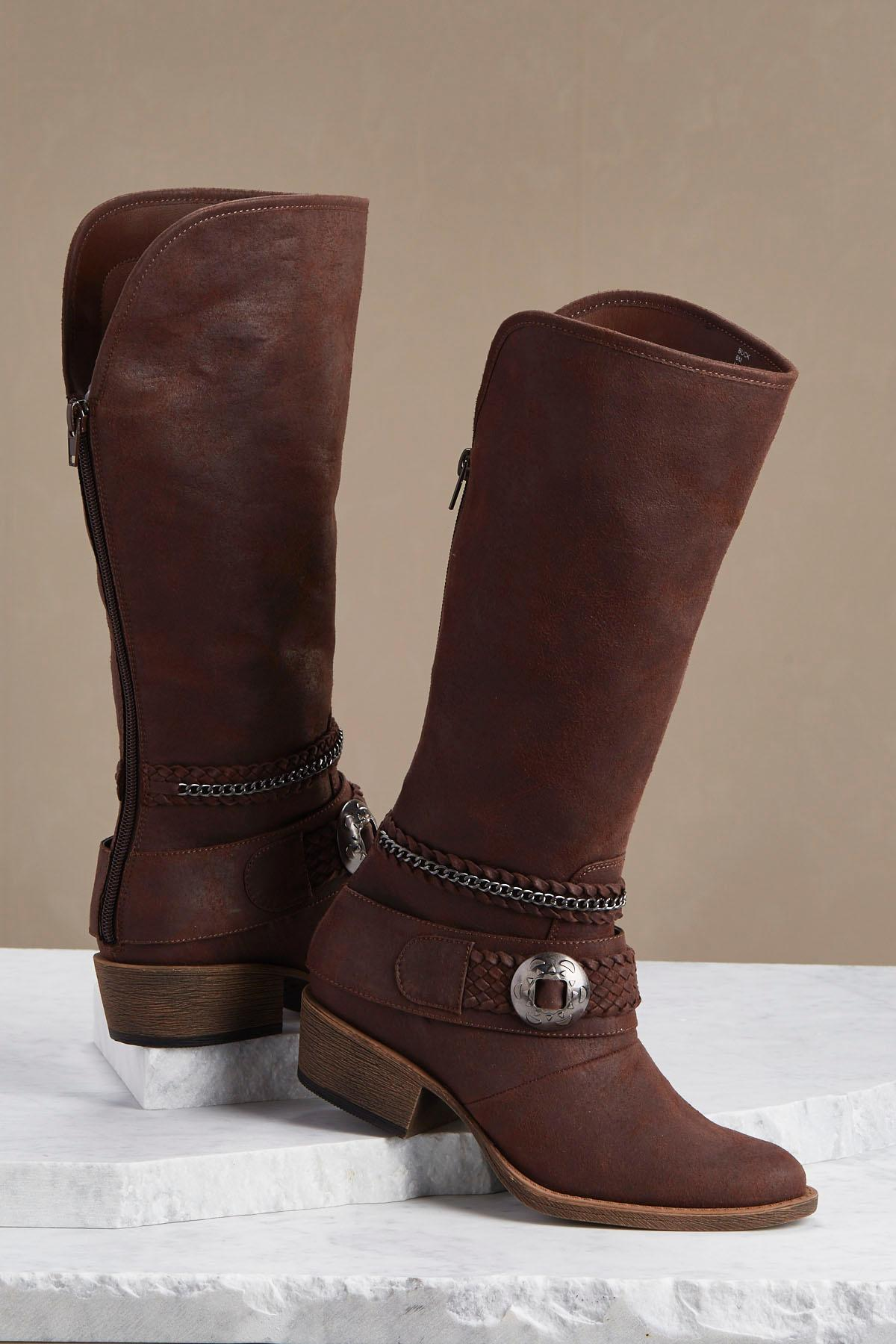 Concho Shell Western Boots