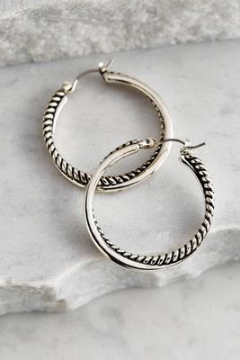 rope twist hoop earrings