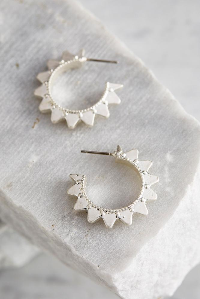 Spiked Mini Hoop Earrings