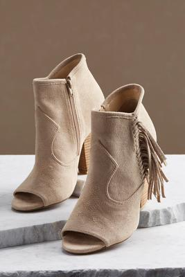 embroidered fringe western shooties
