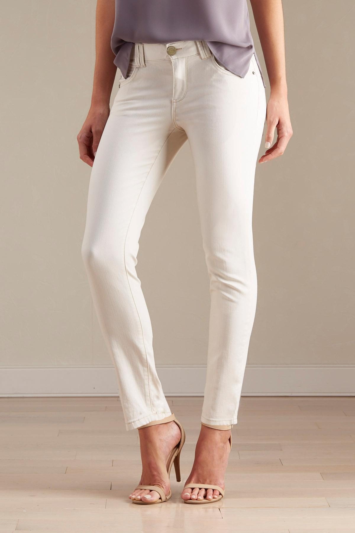 Slimming Ivory Skinny Pants