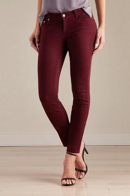 soft skinny twill pants