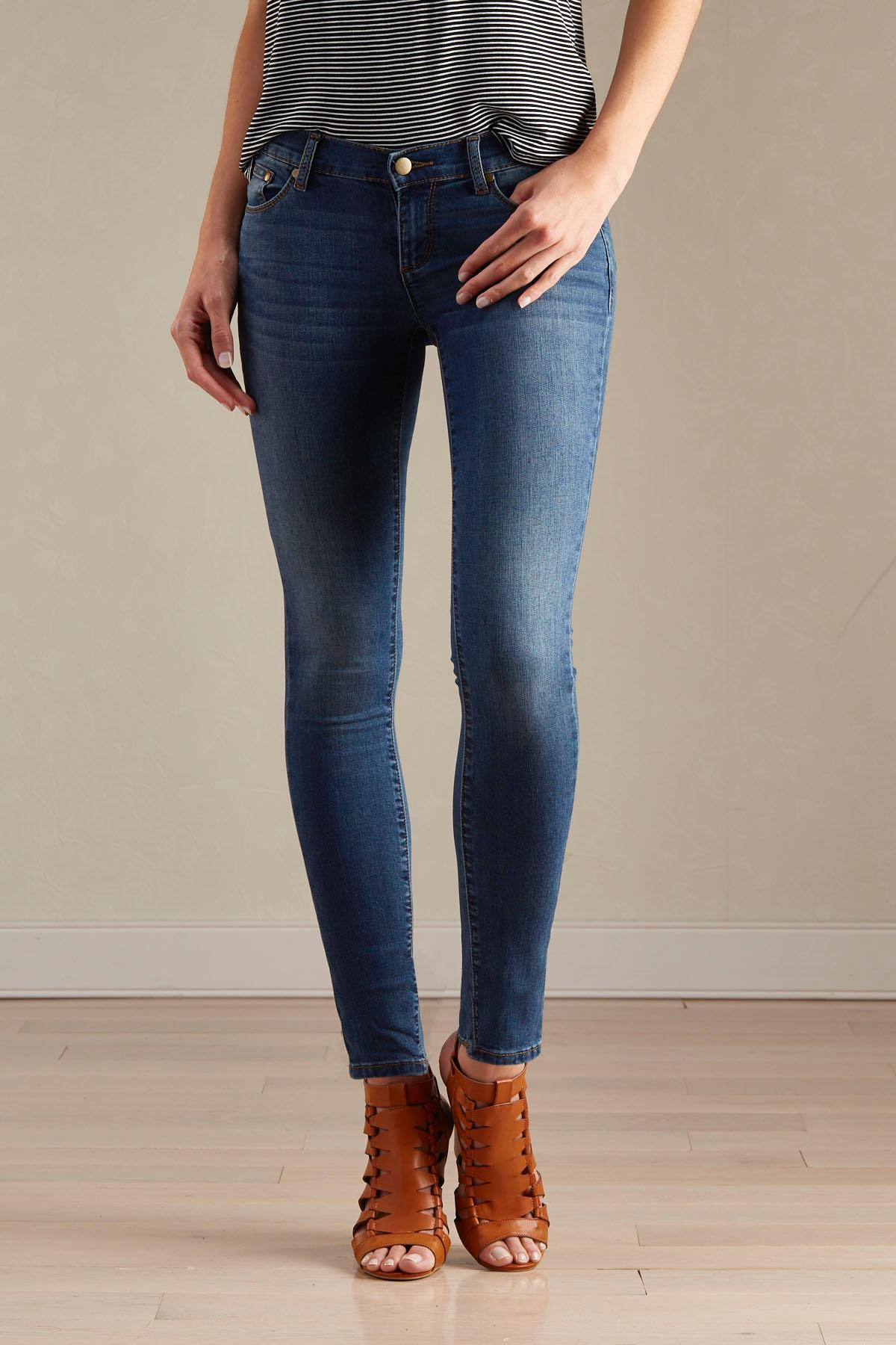 Whiskered Modern Fit Skinny Jeans
