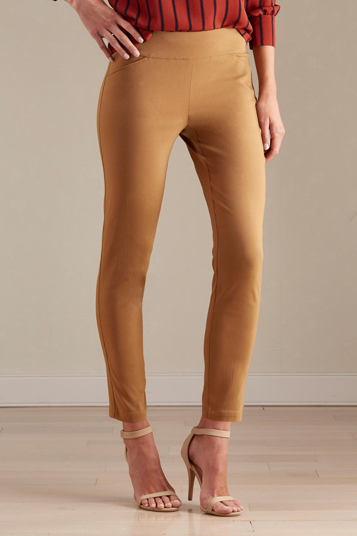 Pull- On Slim Leg Ankle Pants