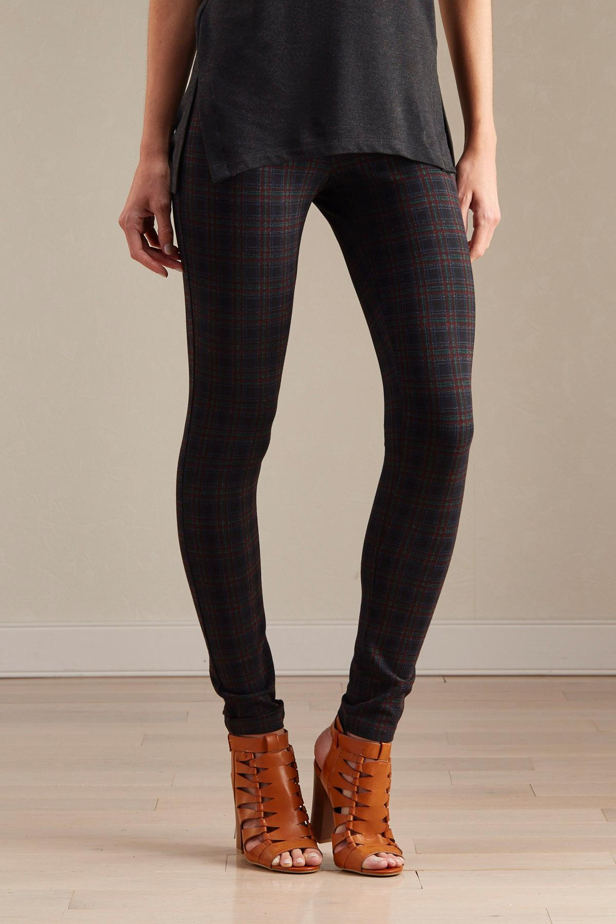 Plaid Ponte Knit Leggings