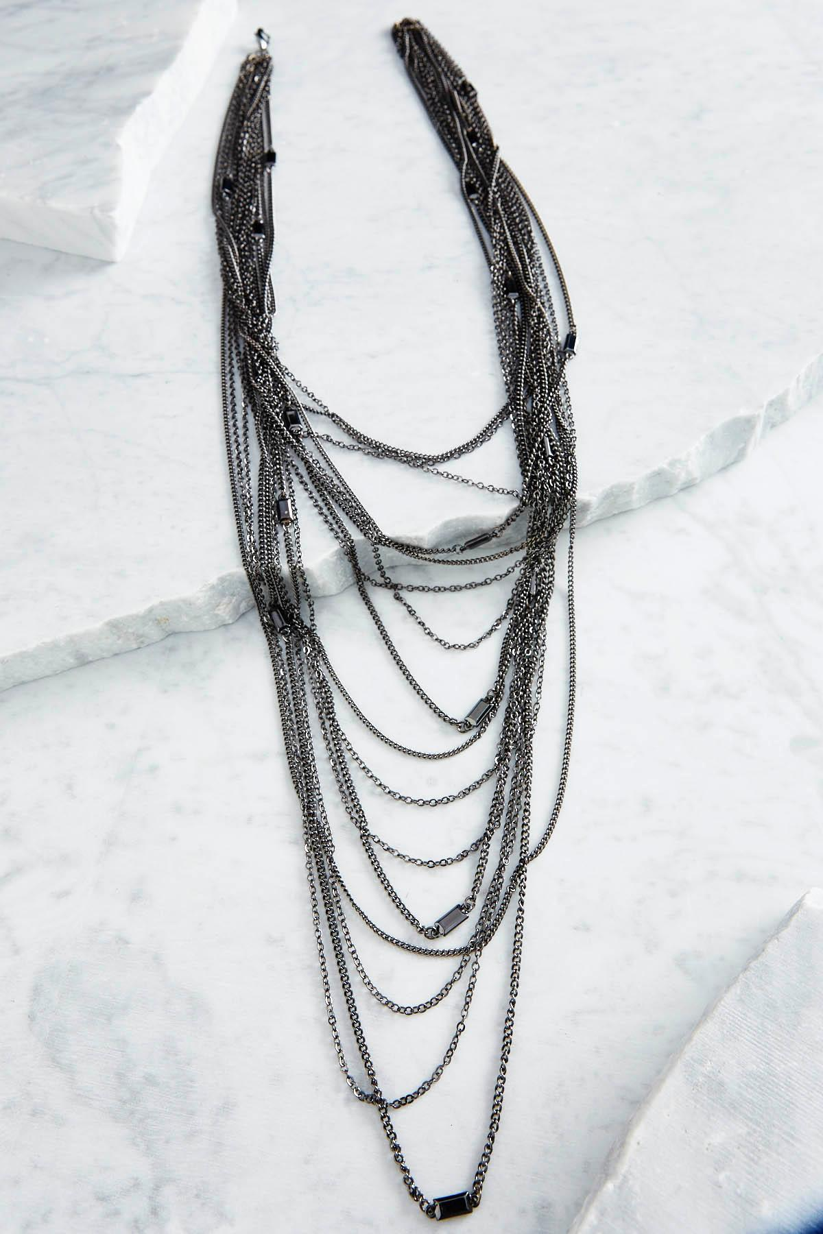 Stationed Stone Layered Necklace