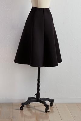 full scuba knit midi skirt