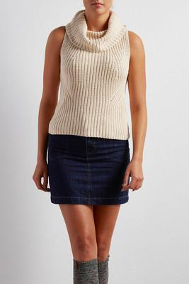 cowl neck sweater tank