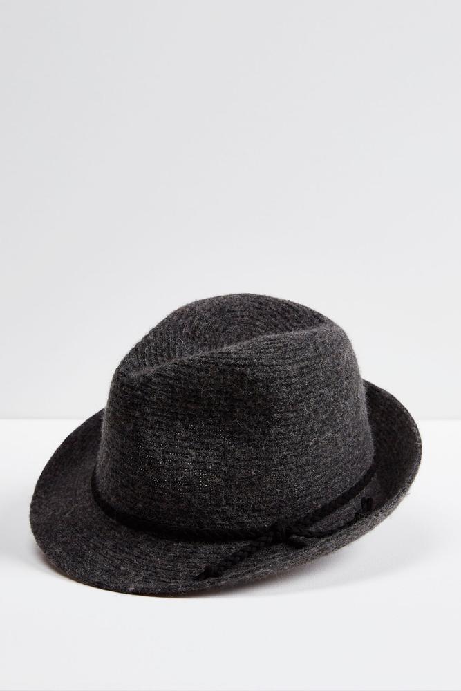 Fuzzy Knit Fedora
