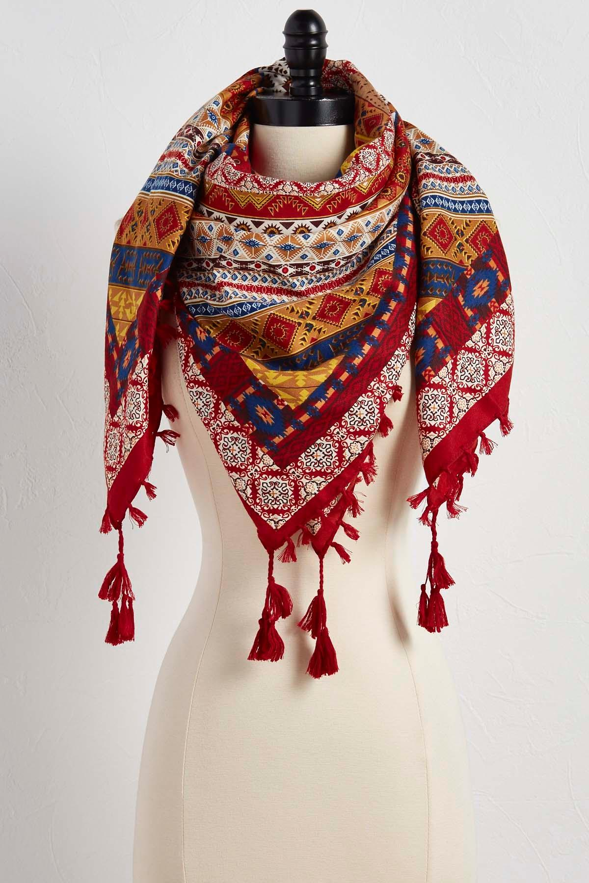 Heritage Patchwork Square Scarf