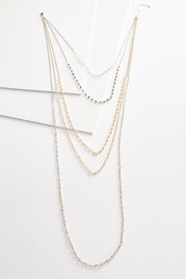 stationed bead layered necklace