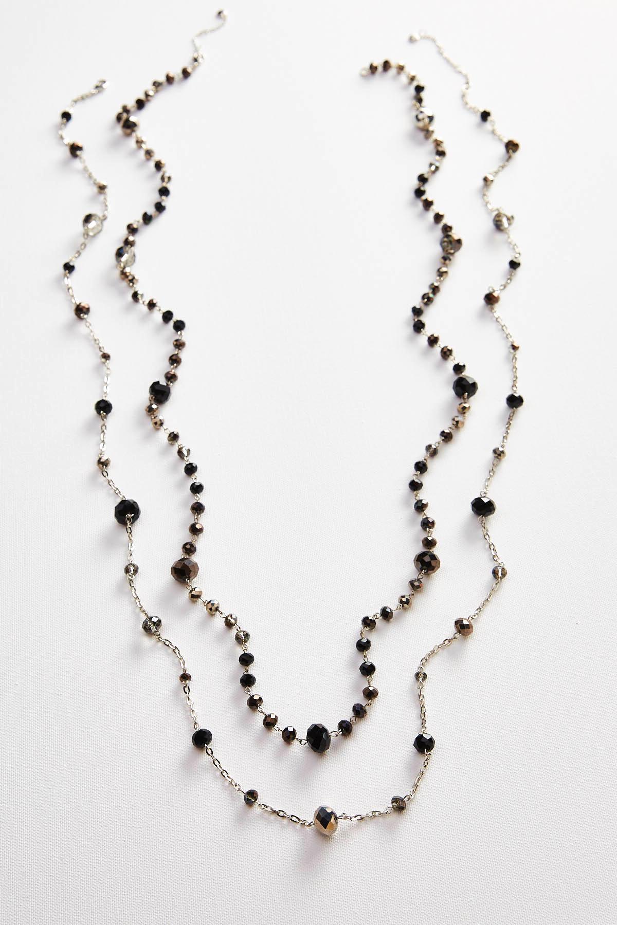 Long Rondelle Bead Necklace Set