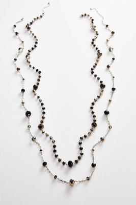 long rondelle bead necklace set