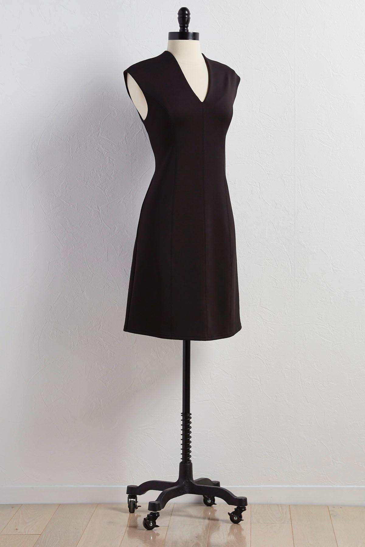 Scuba Knit Fit And Flare Dress