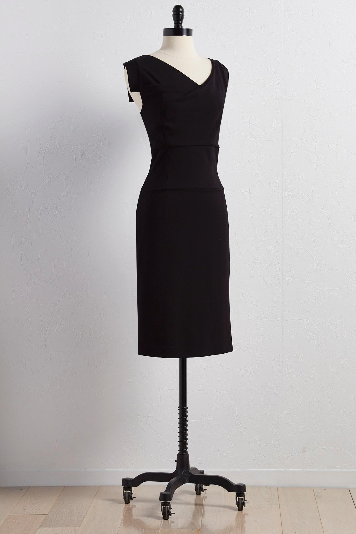 Ponte Knit Sheath Dress