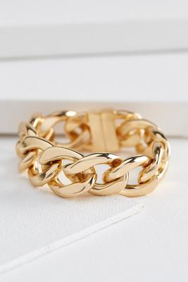 casted chain link magnetic bracelet