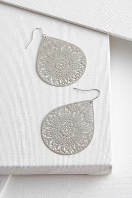 brass filigree dangle earrings