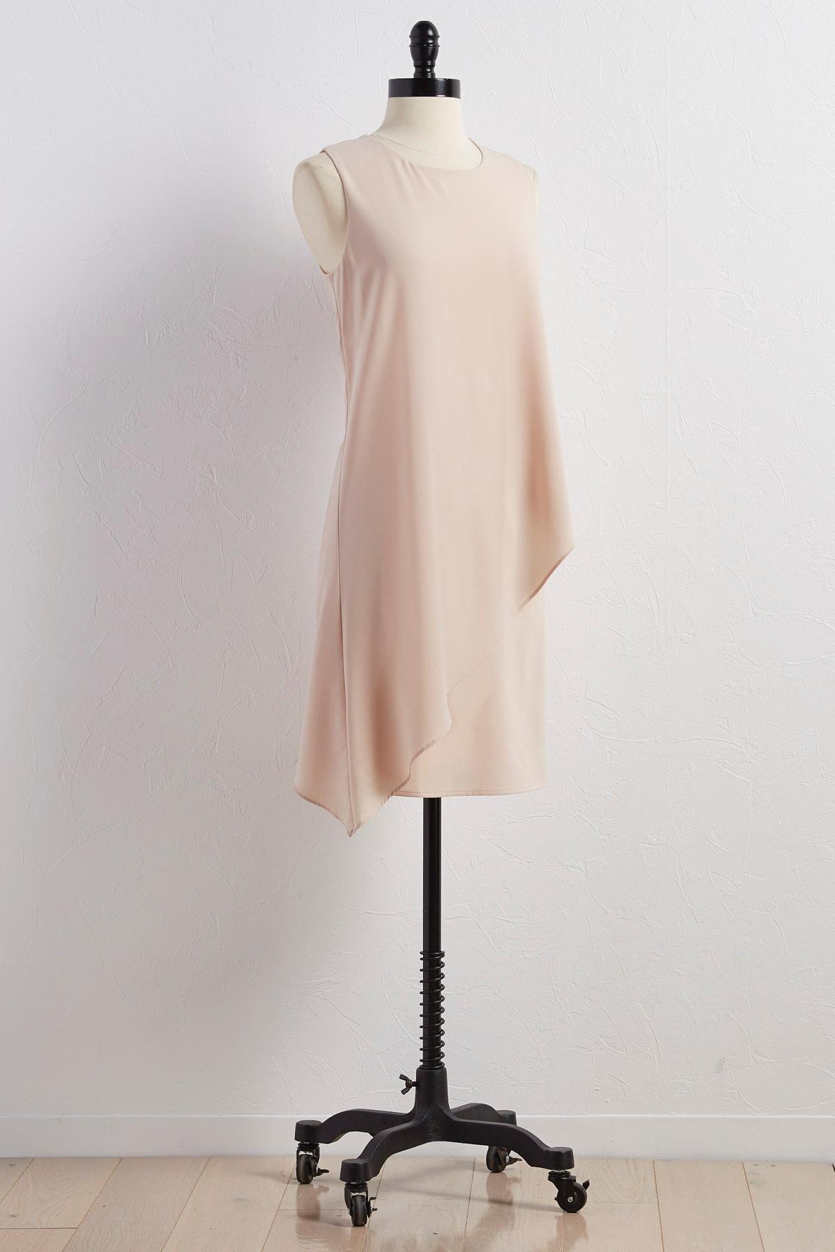 Asymmetrical Layered Shift Dress