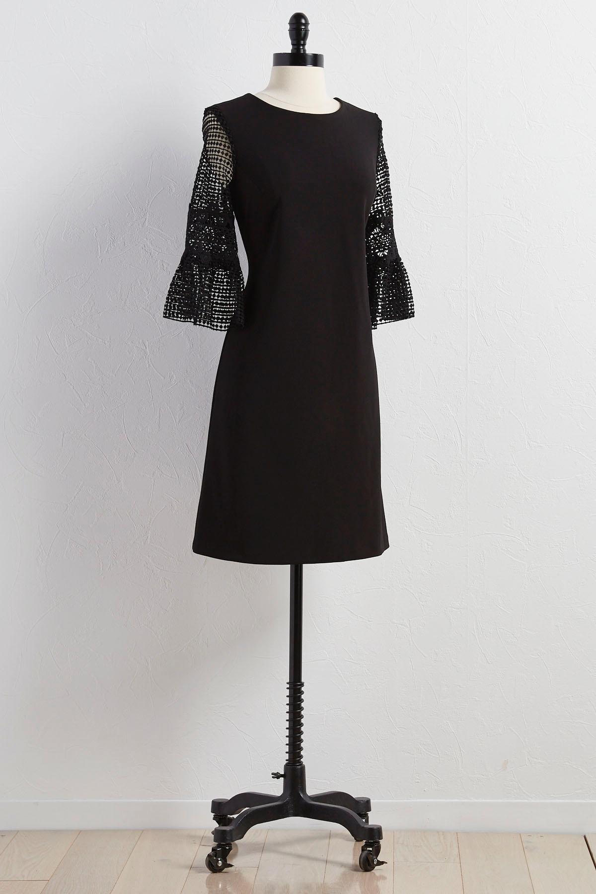 Crochet Sleeve Sheath Dress