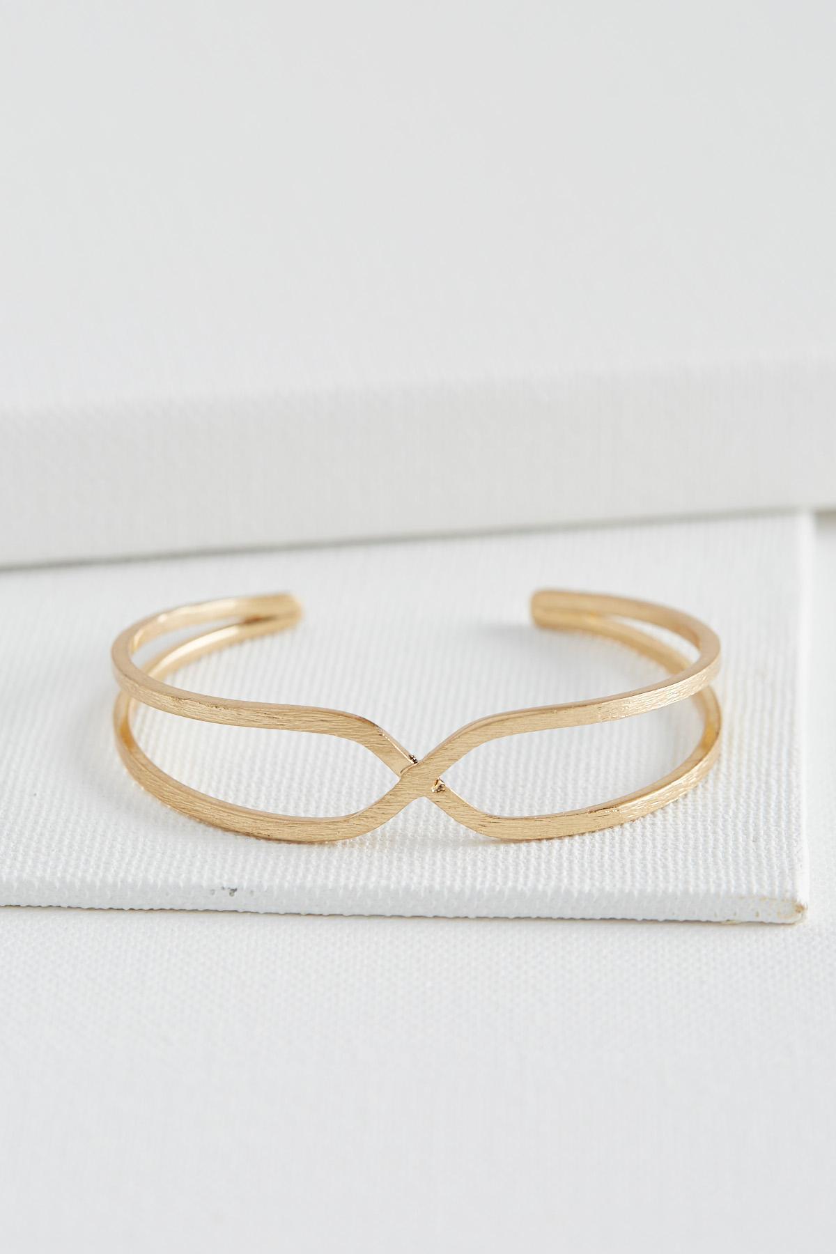 Criss Cross Center Cuff Bracelet