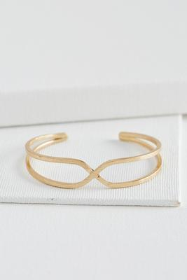 criss cross center cuff bracelet