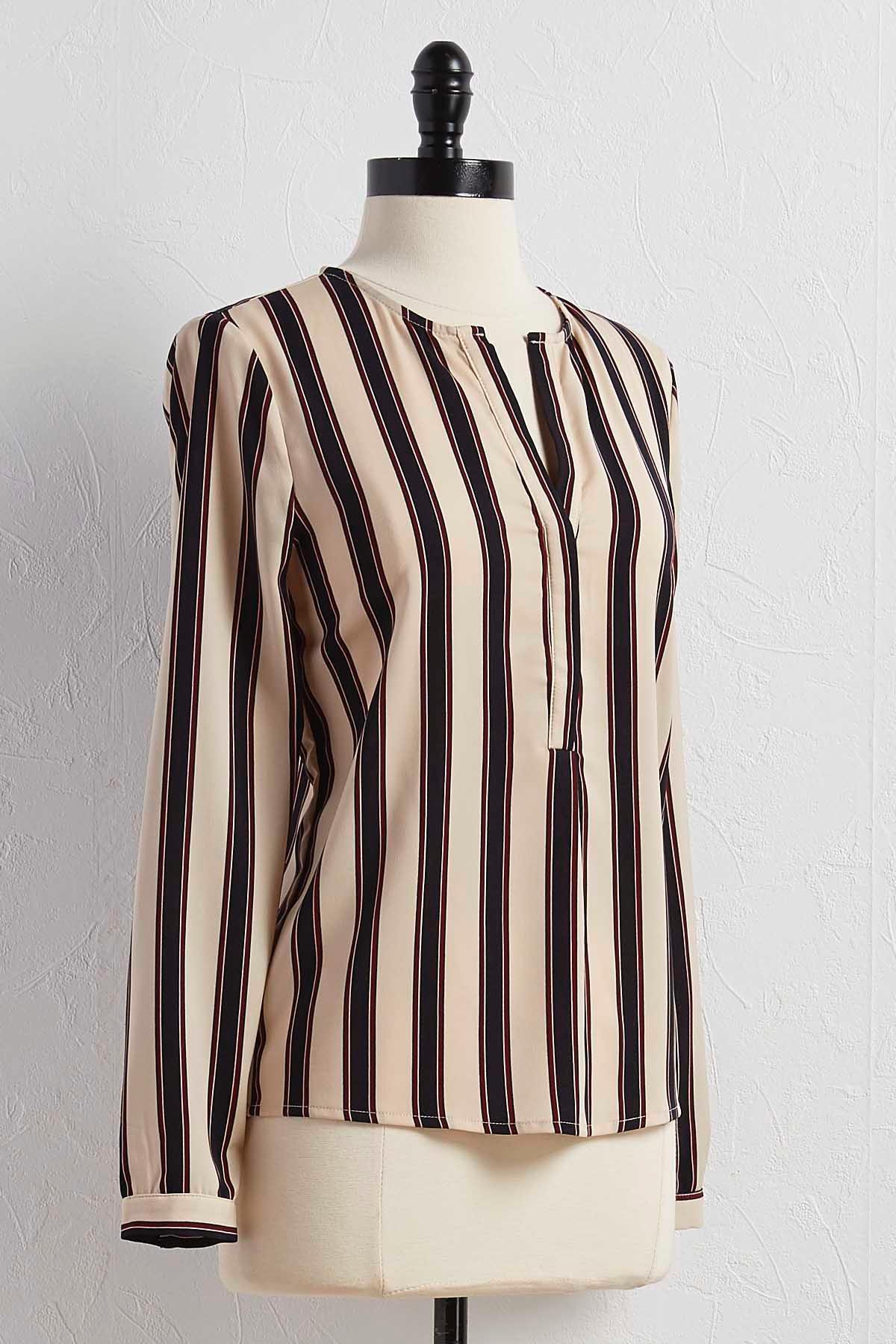 Striped Popover Top