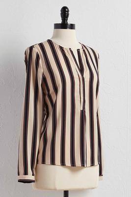 striped popover top