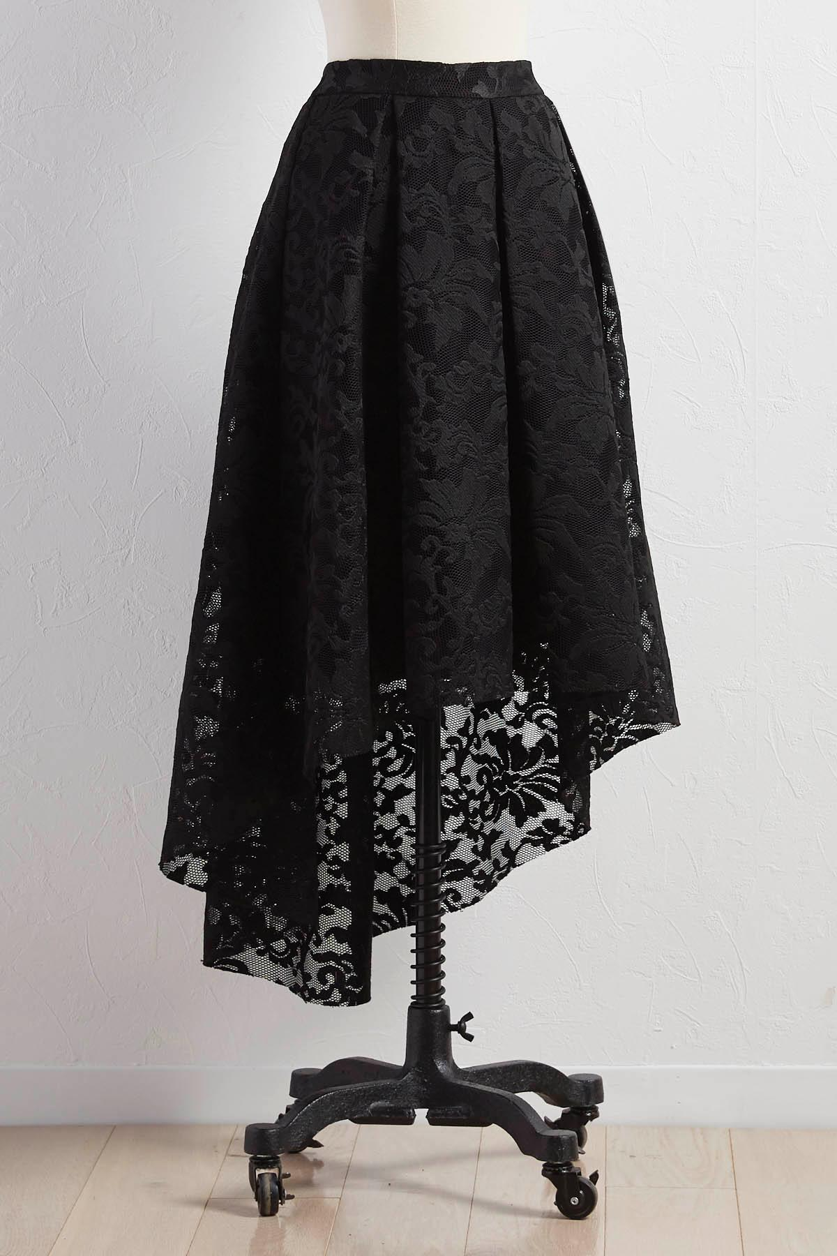 Lace High- Low Skirt