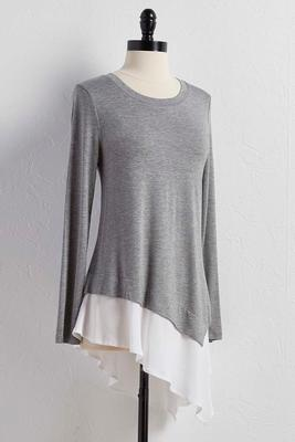 layered asymmetrical tunic