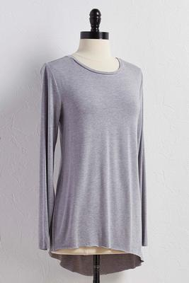 asymmetrical high-low tunic