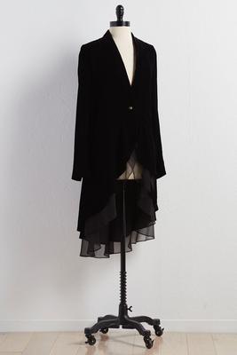 ruffled vintage velvet jacket