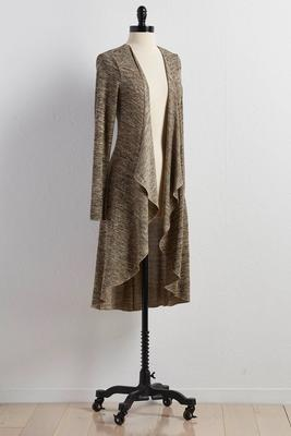 marled waterfall duster
