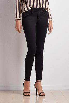 black stretch waist jeggings