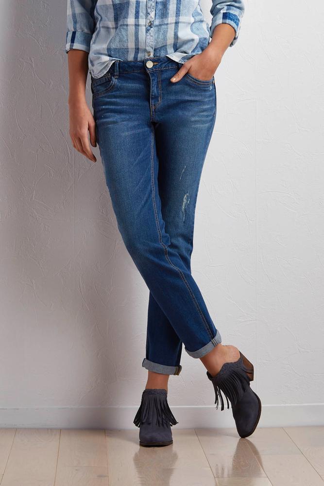 Cuffed Girlfriend Jeans