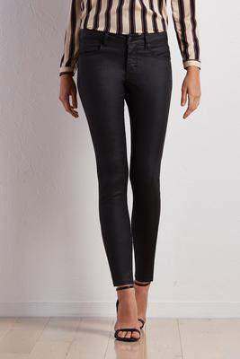 coated skinny pants