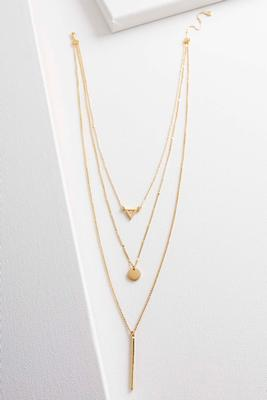 geometric pendant layered necklace