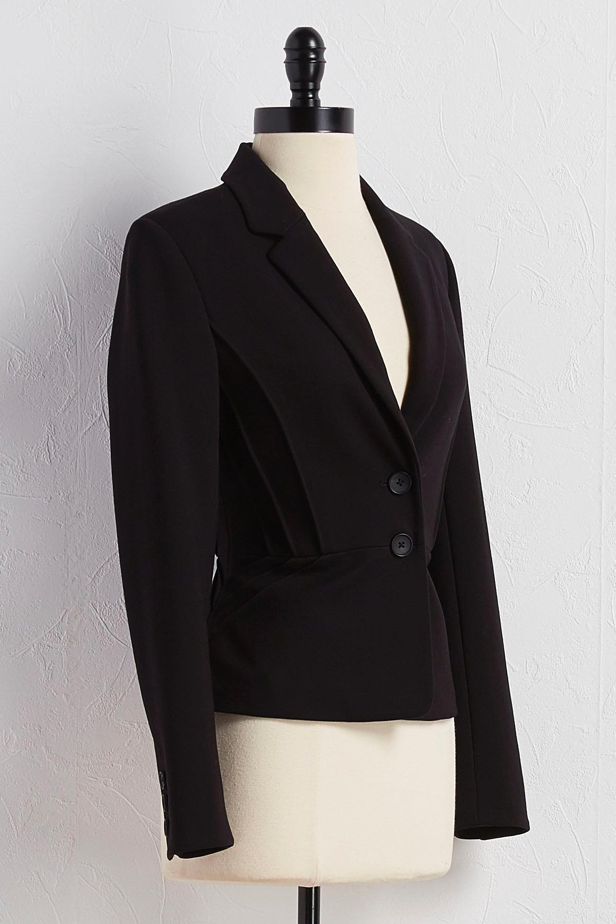 Pintucked Ponte Blazer