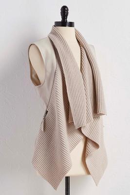 draped mixed media vest