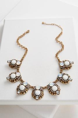 art deco bib necklace