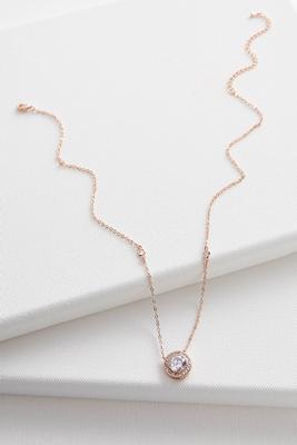 haloed cz pendant necklace