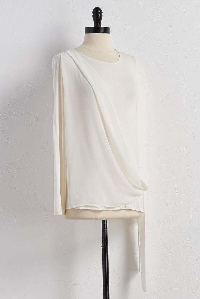 Asymmetrical Tie Front Top