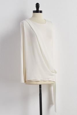 asymmetrical tie front top