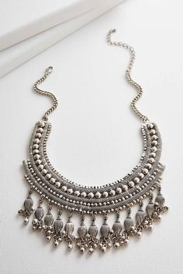 shaky tribal bib necklace