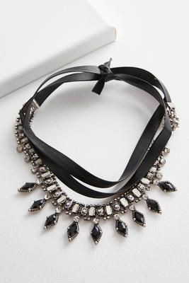 jeweled wrap around choker