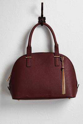 tasseled bowler satchel