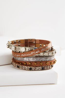 studded inspiration wrap bracelet